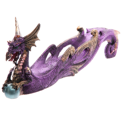 Dark Legends Dragon Ashcatcher Shimmering Purple B | Angel Clothing