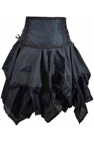 Dark Star High Waisted Handkerchief Skirt Black | Angel Clothing