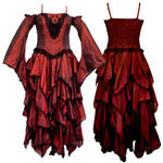 Dark Star Maroon Polysilk Open Shoulder Dress | Angel Clothing