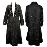 Dark Star Gothic Frock Coat Black Brocade | Angel Clothing