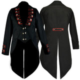 Dark Star Black/Red Tailcoat Jacket | Angel Clothing