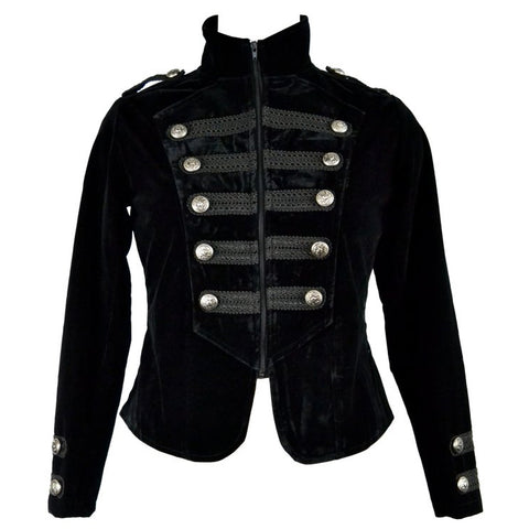 Dark Star Black Military Tailcoat | Angel Clothing
