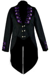 Dark Star Black/Purple Tailcoat Jacket | Angel Clothing