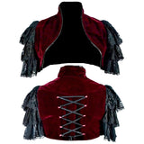 Dark Star Maroon Bolero Jacket | Angel Clothing