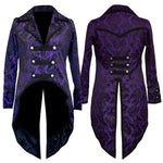 Dark Star Purple Brocade Coat | Angel Clothing
