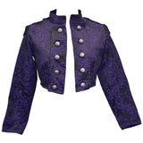 Dark Star Purple Gothic Cropped Jacket | Angel Clothing