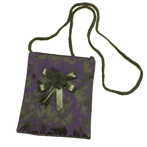 Dark Star Purple Mini Brocade Shoulder Bag | Angel Clothing