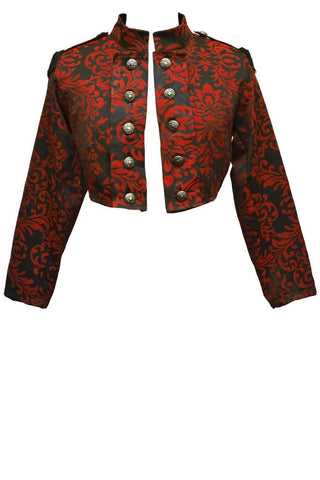 Dark Star Red Gothic Cropped Jacket | Angel Clothing