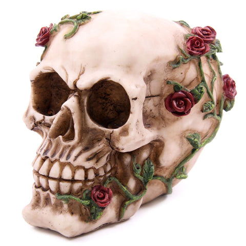 Decorative Skull with Climbing Roses | Angel Clothing