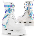Demonia ETERNAL-115 White Boots | Angel Clothing