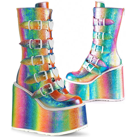 Demonia Rainbow SWING 230 Boots | Angel Clothing