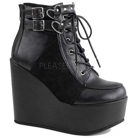 Demonia Boots Black Gothic Boots - Poison 105 | Angel Clothing