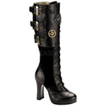 Demonia Crypto 302 Boots Black | Angel Clothing