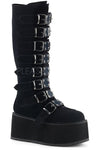 Demonia DAMNED 318 Boots Black Velvet | Angel Clothing