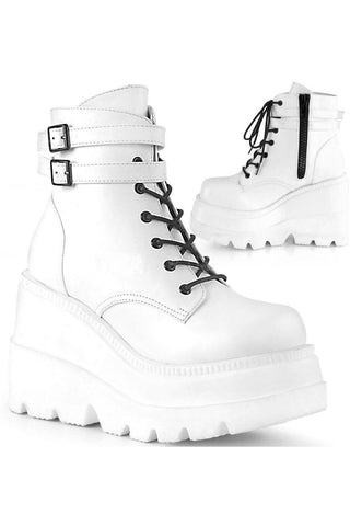 Demonia SHAKER-52 Boots White | Angel Clothing