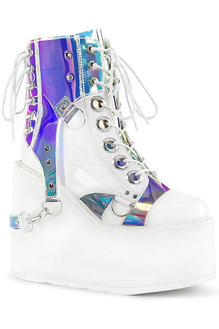 Demonia SWING 115 Boots White | Angel Clothing