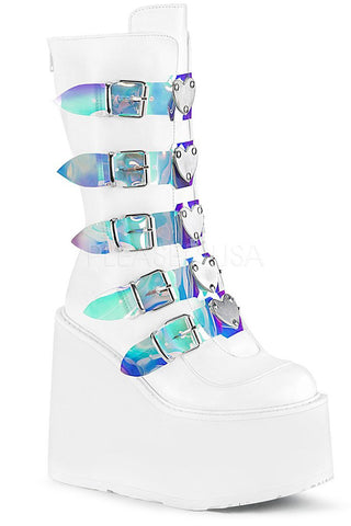 Demonia SWING 230 Boots White | Angel Clothing
