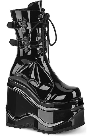 Demonia Wave 150 Boots Patent | Angel Clothing