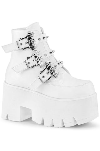 Demonia White ASHES-55 Boots | Angel Clothing