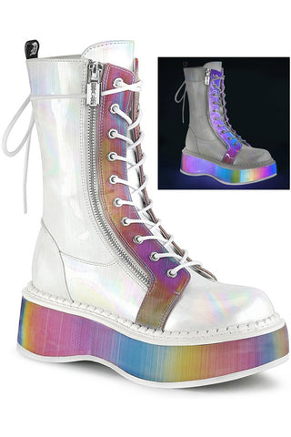 Demonia White EMILY 350 Boots | Angel Clothing