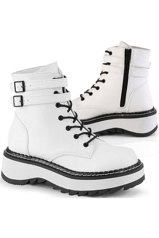 Demonia White LILITH-152 Boots | Angel Clothing