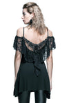 Devil Fashion Elegant Gothic Lace Drop Top | Angel Clothing