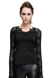 Devil Fashion Spiderweb Lace Sleeve Top | Angel Clothing