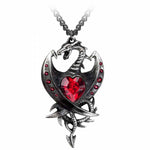 Alchemy Gothic Diamond Heart Pendant P609 | Angel Clothing