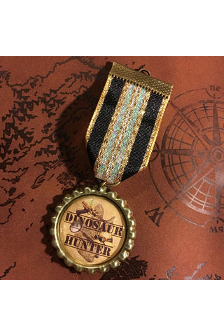 Dinosaur Hunter Steampunk Medal | Angel Clothing