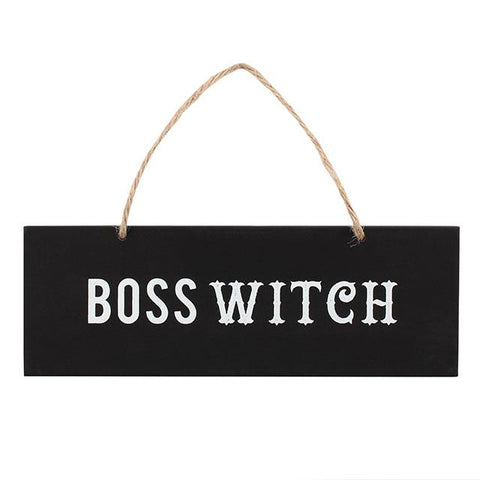 Boss Witch Wall Sign 20cm | Angel Clothing