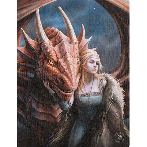Anne Stokes Friend or Foe Dragon Picture 19cm x 25cm | Angel Clothing