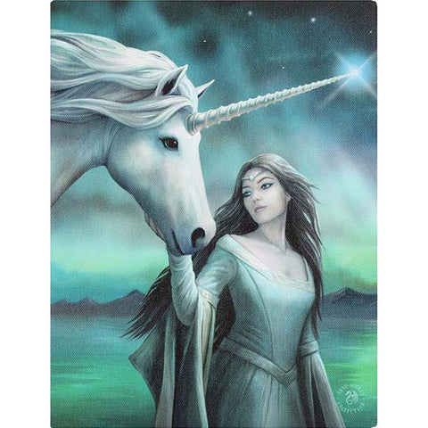 Anne Stokes North Star Unicorn Picture 19cm x 25cm | Angel Clothing