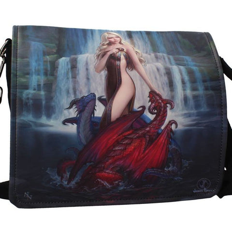 Dragon Bathers Embossed Shoulder Bag By James Ryman | Angel Clothing