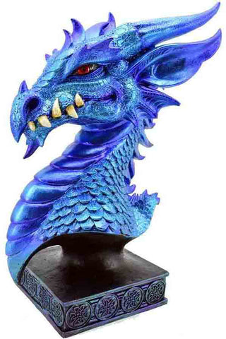 Dragon Head On Stand Blue | Angel Clothing