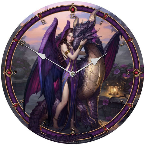 Dragon Sanctuary Clock By James Ryman | Angel Clothing
