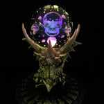 Skeletal Realm Dragon Skull and LED Crystal Orb | Angel Clothing