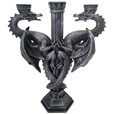 Dragons Altar Candle Holder, Gothic Dragon Candelabra | Angel Clothing