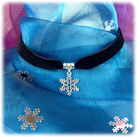 Dragophelion Designs Black Velvet Snowflake Choker | Angel Clothing