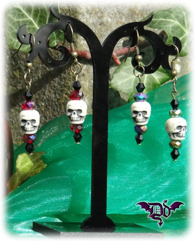 Dragophelion Designs Bronze Halloween Skull Earrings - 2 Colours - Angel Clothing