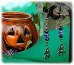 Dragophelion Designs Bronze Halloween Spider Earrings -3 Colours - Angel Clothing
