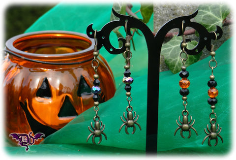 Dragophelion Designs Bronze Halloween Spider Earrings -3 Colours | Angel Clothing