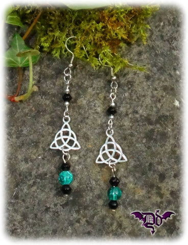 Dragophelion Designs Celtic Triskel Bead Drop Earrings | Angel Clothing