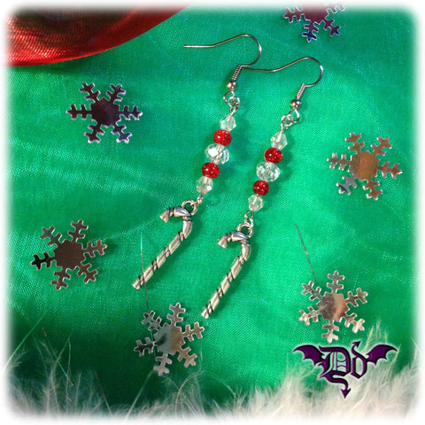 Dragophelion Designs Christmas Candy Cane Earrings | Angel Clothing