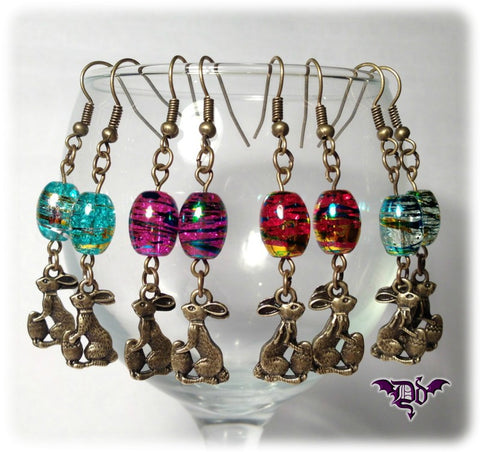 Dragophelion Designs Easter Bunny Earrings | Angel Clothing