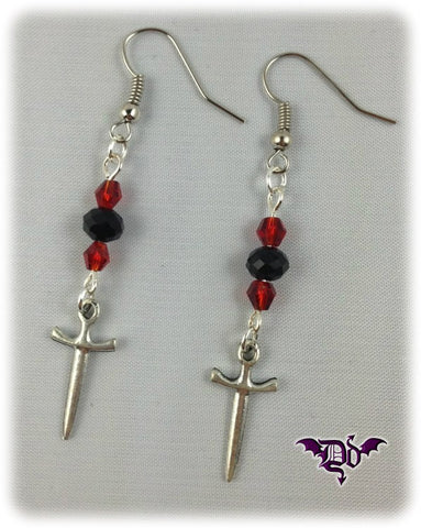 Dragophelion Designs Gothic Dagger Earrings - Angel Clothing