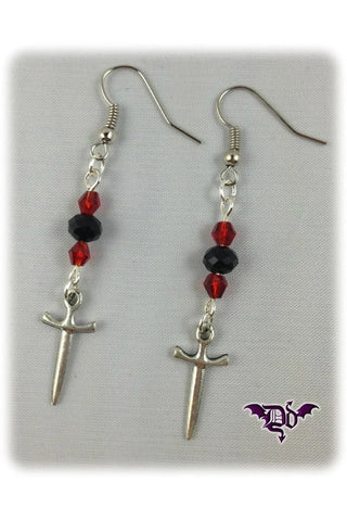 Dragophelion Designs Gothic Dagger Earrings | Angel Clothing