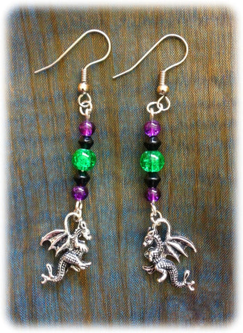 Dragophelion Designs Gothic Dragon Earrings - Angel Clothing