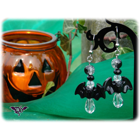 Dragophelion Designs Halloween Bat Earrings Gothic Dark Moon - Angel Clothing