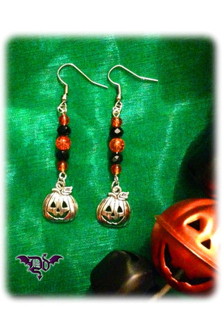 Dragophelion Designs Halloween Pumpkin Earrings | Angel Clothing