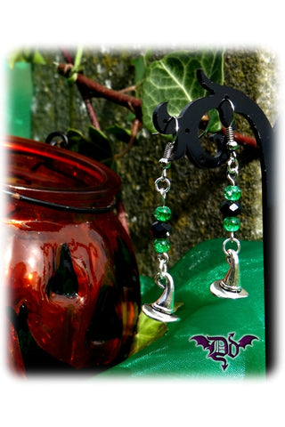 Dragophelion Designs Halloween Witch Hat Earrings | Angel Clothing